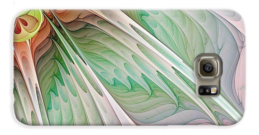 Digital Art Galaxy S6 Case featuring the digital art Petals by Amanda Moore