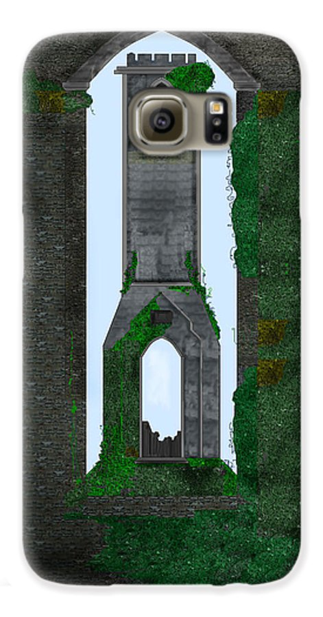 Ireland Galaxy S6 Case featuring the painting Quint Arches In Ireland by Anne Norskog