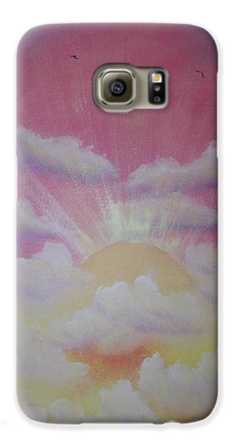 Bird Galaxy S6 Case featuring the painting The Ascension by Laurie Kidd