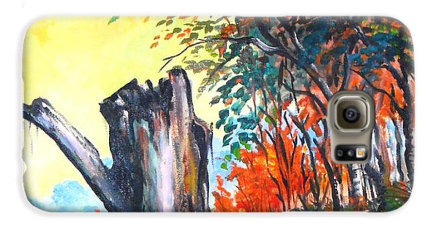 Landscape Galaxy S6 Case featuring the painting Verde Que Te Quero Verde by Leomariano artist BRASIL