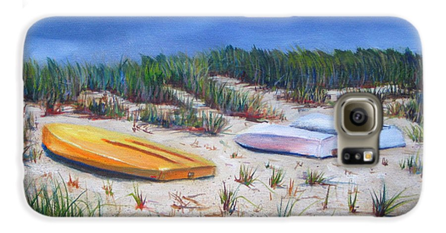 Cape Cod Galaxy S6 Case featuring the painting 3 Boats by Paul Walsh