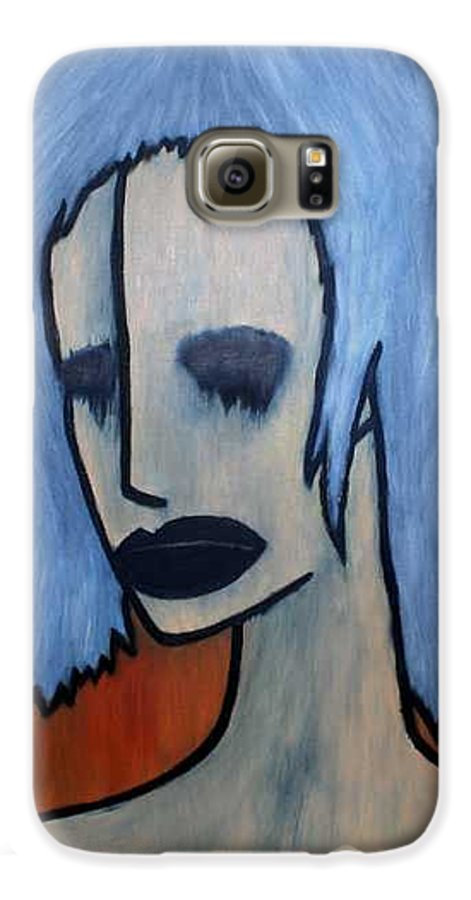 Potrait Galaxy S6 Case featuring the painting Halloween by Thomas Valentine