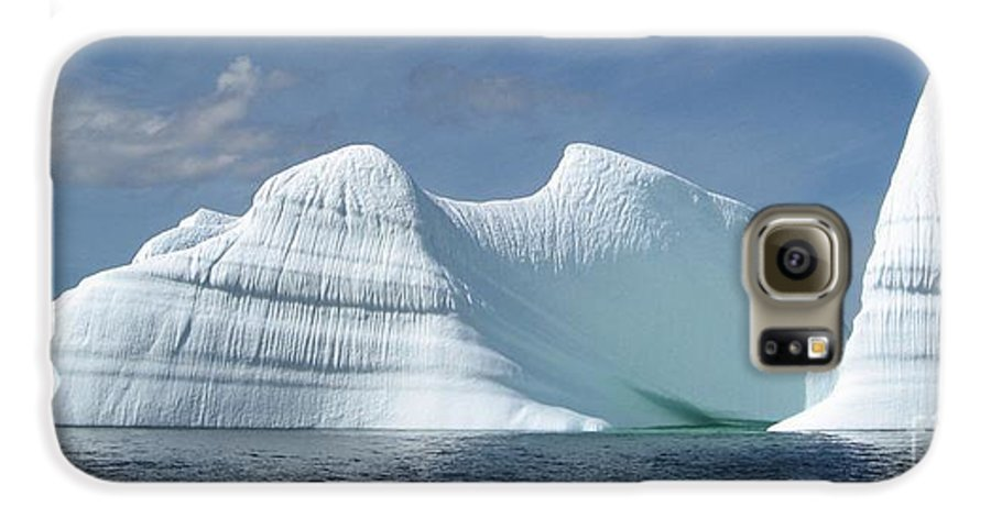 Iceberg Photograph Ice Water Ocean Sea Atlantic Summer Newfoundland Galaxy S6 Case featuring the photograph Iceberg by Seon-Jeong Kim