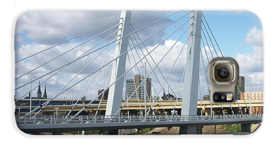 Bridge Galaxy S6 Case featuring the photograph 6th Street Bridge by Anita Burgermeister