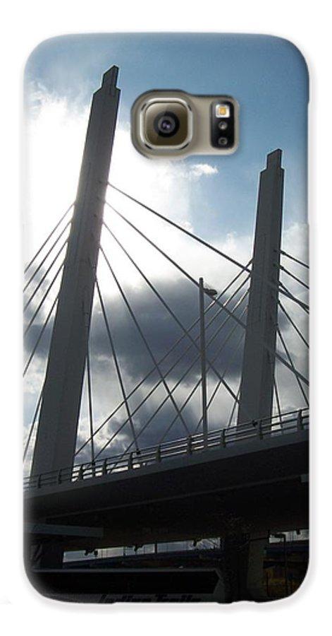 Bridge Galaxy S6 Case featuring the photograph 6th Street Bridge Backlit by Anita Burgermeister