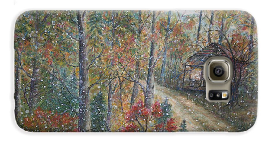 Country Road; Old House; Trees Galaxy S6 Case featuring the painting A Bend In The Road by Ben Kiger