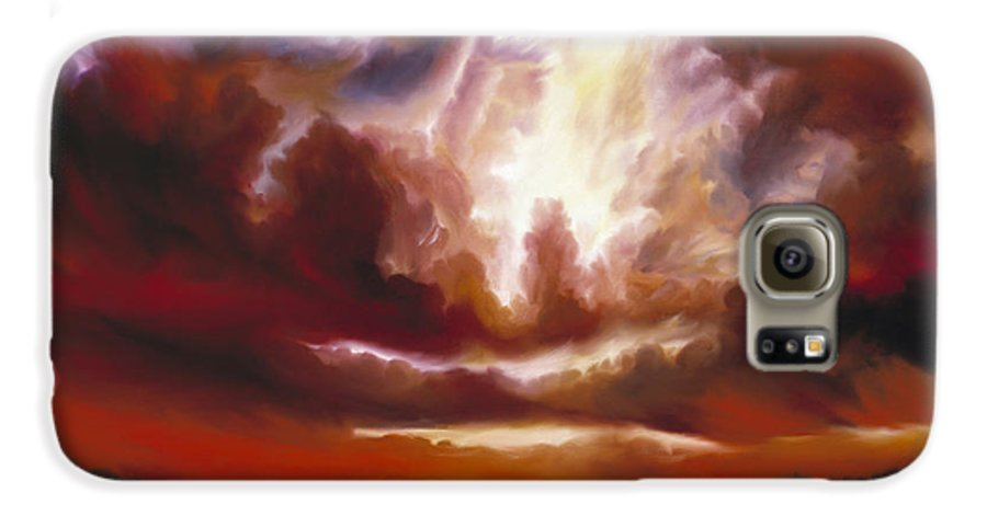Tempest Galaxy S6 Case featuring the painting A Cosmic Storm - Genesis V by James Christopher Hill