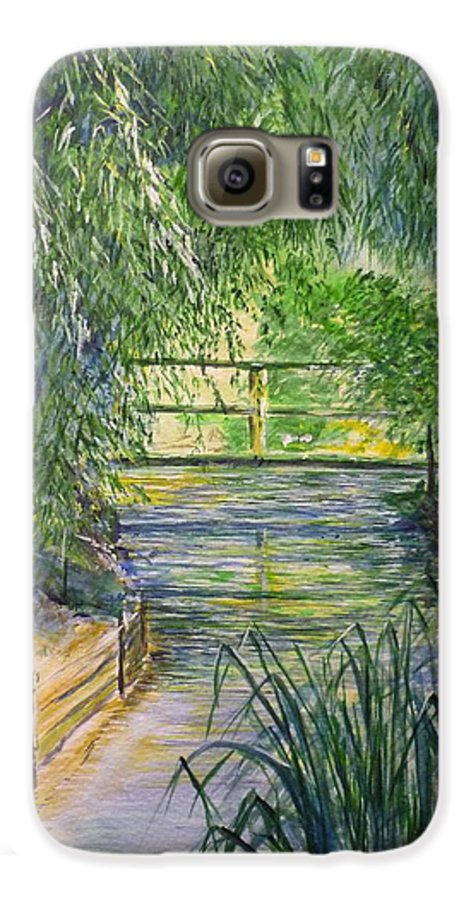 Giverny Galaxy S6 Case featuring the painting A Day At Giverny by Lizzy Forrester