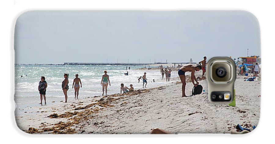 Nude Galaxy S6 Case featuring the photograph A Day At Paradise Beach by Rob Hans
