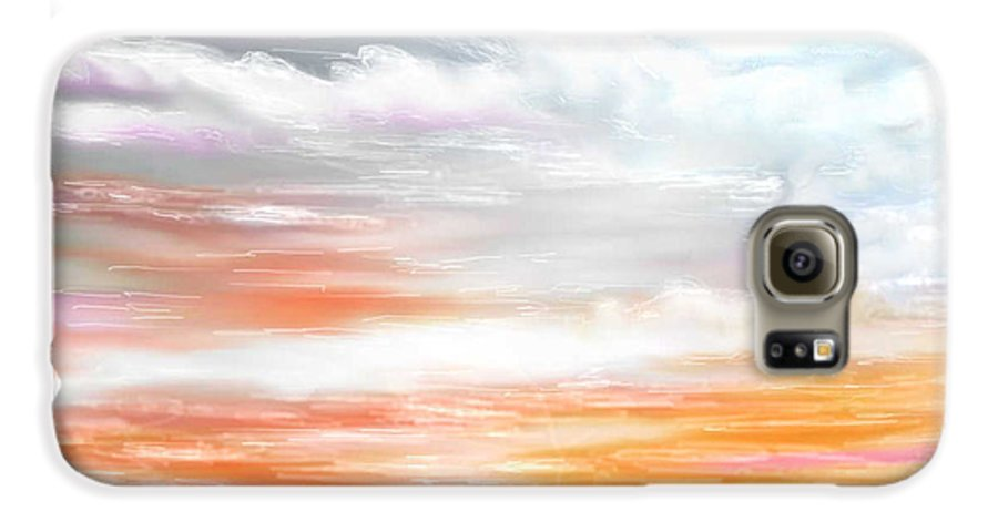 Inspirational Art Galaxy S6 Case featuring the digital art A Light Unto My Path by Brenda L Spencer