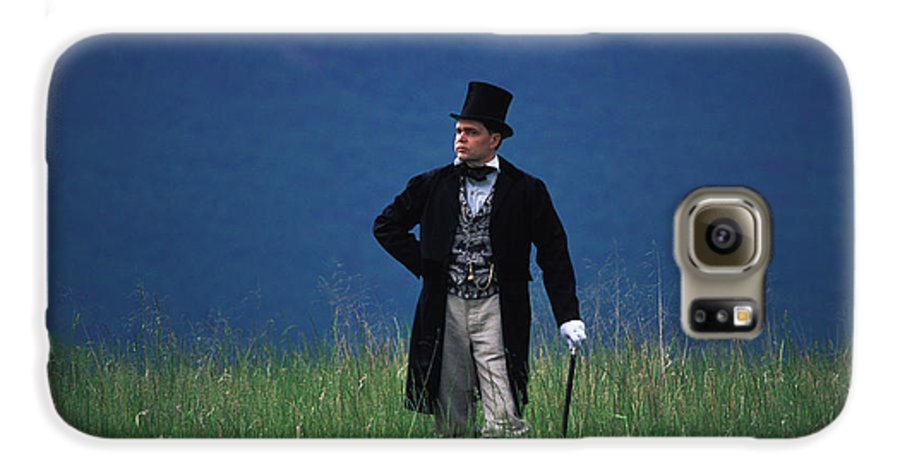 History Galaxy S6 Case featuring the photograph A Man Outstanding In His Field by Carl Purcell
