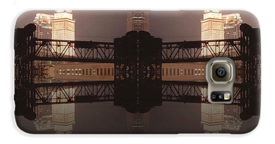 Cleveland Galaxy S6 Case featuring the photograph A Mirror Image Reflection by Kenneth Krolikowski