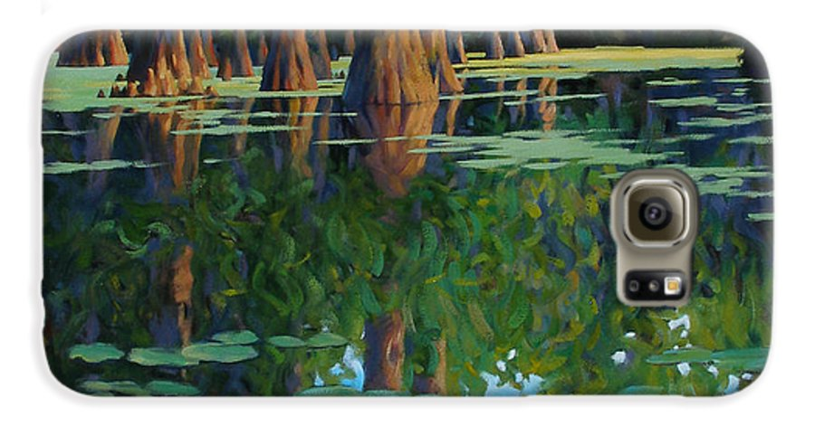 Swamp Galaxy S6 Case featuring the painting A Patch Of Blue by Kevin Lawrence Leveque