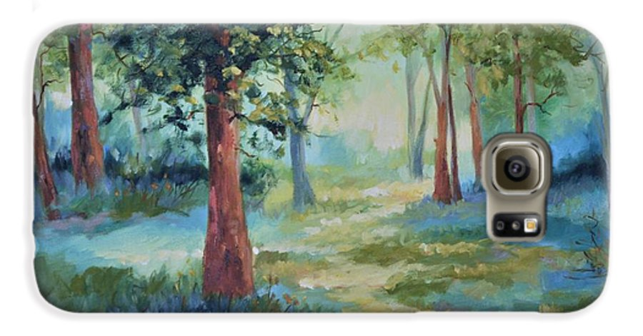 Trees Galaxy S6 Case featuring the painting A Path Not Taken by Ginger Concepcion
