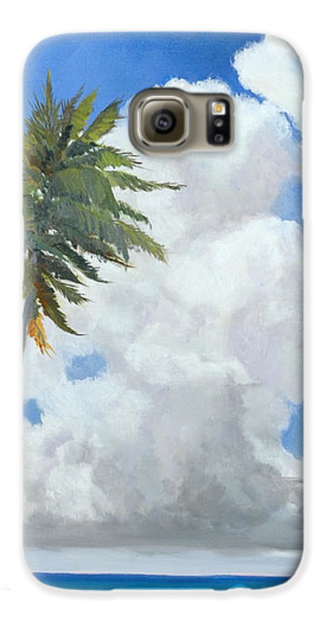 Landscape Galaxy S6 Case featuring the painting A Perfect Day by Glenn Secrest