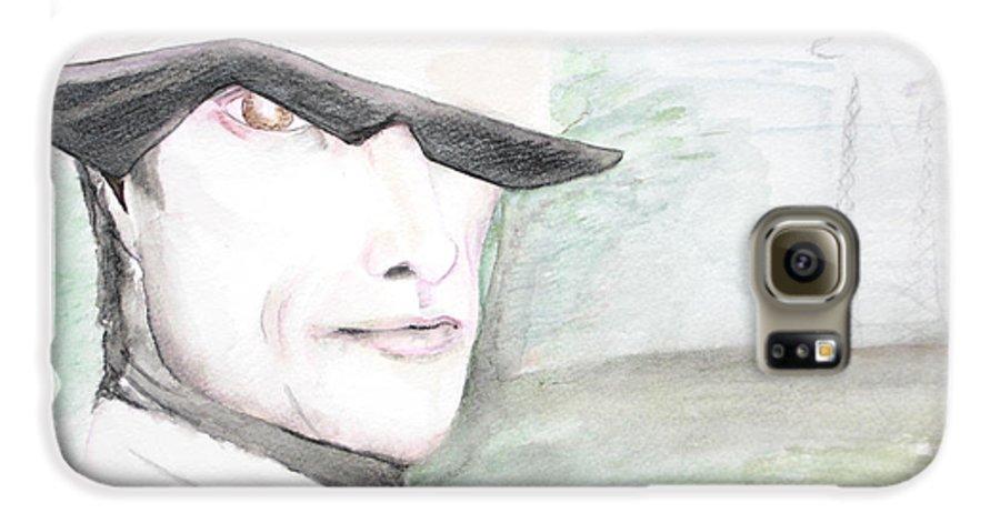 Perry Farrell Jane's Addiction Darkestartist Darkest Artist Galaxy S6 Case featuring the painting A Perry Farrell Plan by Darkest Artist