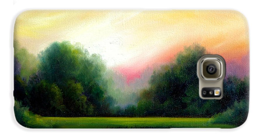 Clouds Galaxy S6 Case featuring the painting A Spring Evening by James Christopher Hill