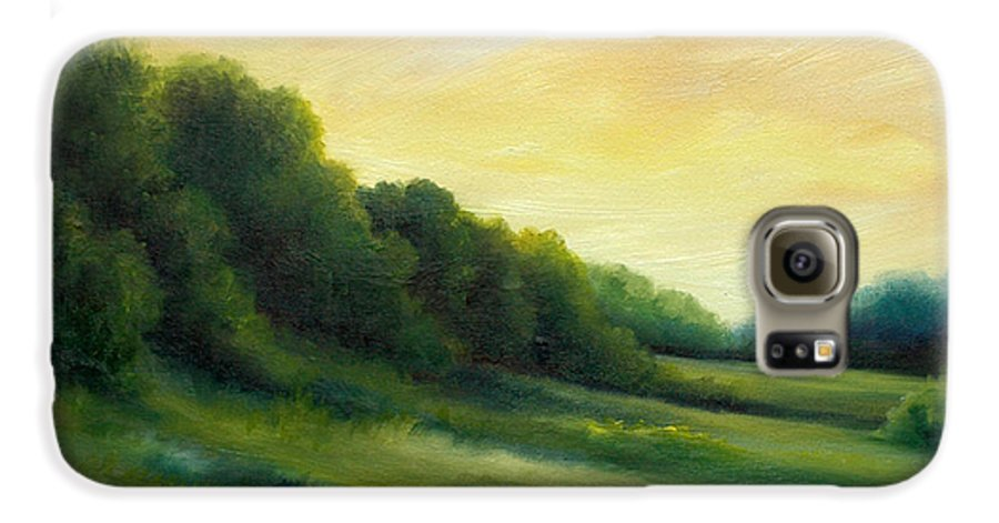 Clouds Galaxy S6 Case featuring the painting A Spring Evening Part Two by James Christopher Hill