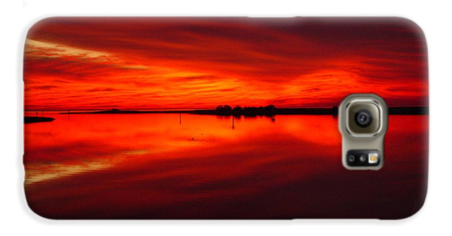 Sunset Galaxy S6 Case featuring the photograph A Sunset Kiss -debbie-may by Debbie May