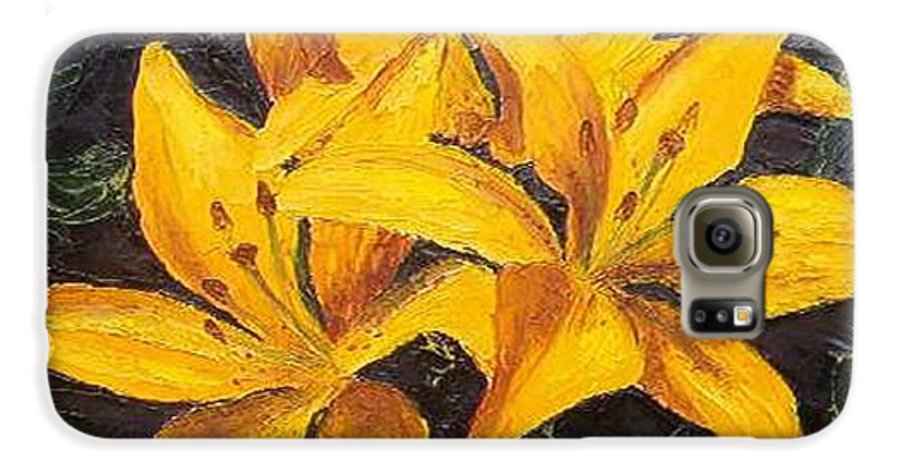 Galaxy S6 Case featuring the painting A Touch Of Gold by Tami Booher