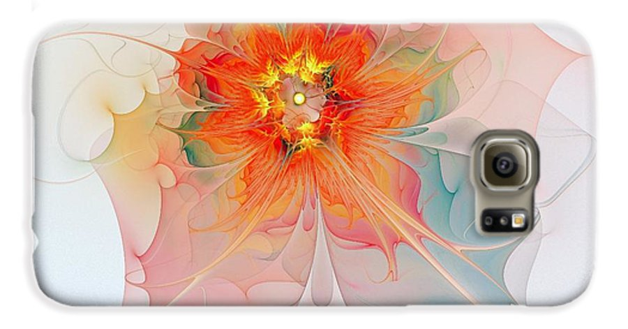 Digital Art Galaxy S6 Case featuring the digital art A Touch Of Spring by Amanda Moore