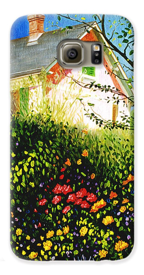 Monets House Galaxy S6 Case featuring the painting A View Of Monets House In Giverny France by Gary Hernandez