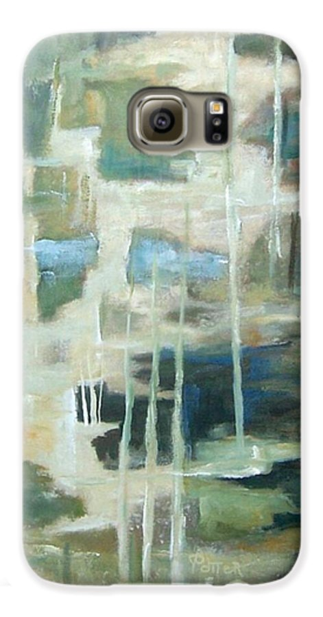 Abstract Galaxy S6 Case featuring the painting A Walk In The Woods by Virginia Potter