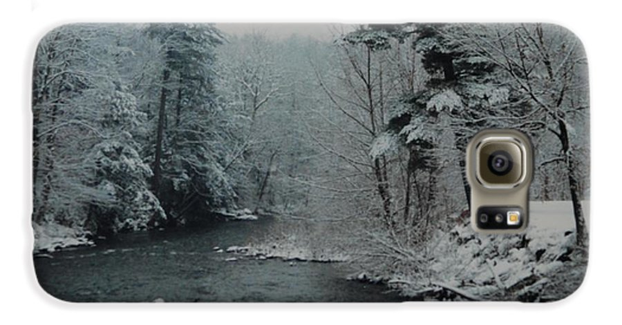 B&w Galaxy S6 Case featuring the photograph A Winter Waterland by Rob Hans