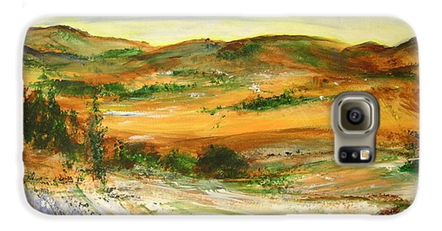 Landscape Galaxy S6 Case featuring the painting Aberdeen Winter Landscape by Lizzy Forrester