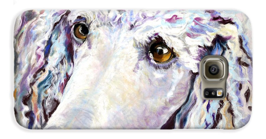 Standard Poodle Galaxy S6 Case featuring the pastel Above The Standard  by Pat Saunders-White