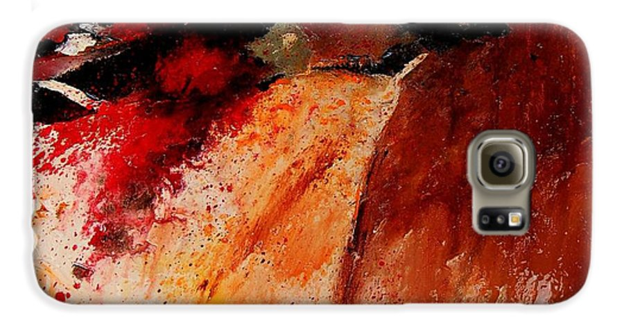 Abstract Galaxy S6 Case featuring the painting Abstract 010607 by Pol Ledent
