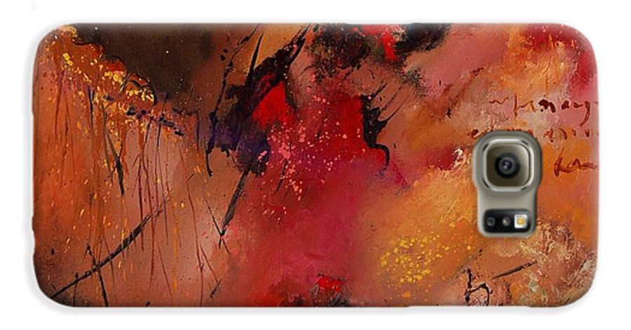 Abstract Galaxy S6 Case featuring the painting Abstract 0408 by Pol Ledent