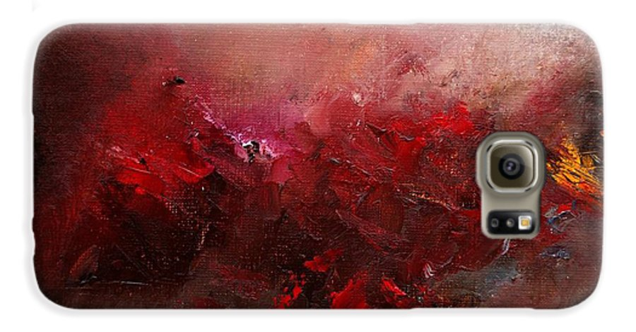 Abstract Galaxy S6 Case featuring the painting Abstract 056 by Pol Ledent