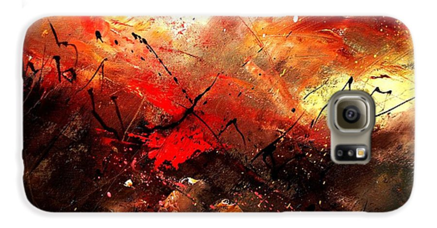 Abstract Galaxy S6 Case featuring the painting Abstract 100202 by Pol Ledent