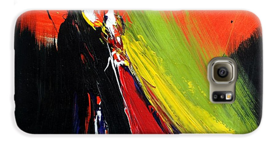 Abstract Galaxy S6 Case featuring the painting Abstract 2002 by Mario Zampedroni