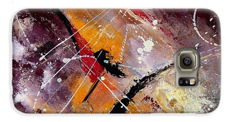 Abstract Galaxy S6 Case featuring the painting Abstract 45 by Pol Ledent