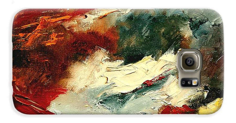 Abstract Galaxy S6 Case featuring the painting Abstract 9 by Pol Ledent