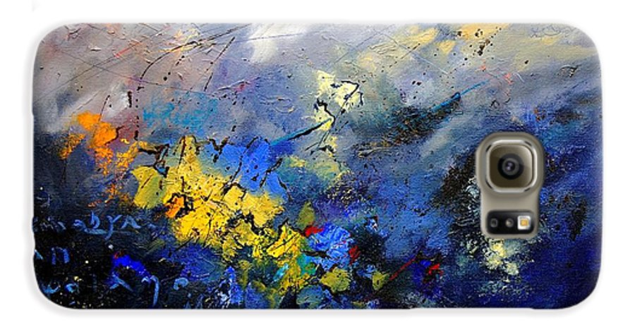 Abstract Galaxy S6 Case featuring the painting Abstract 970208 by Pol Ledent
