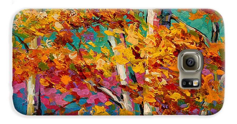 Trees Galaxy S6 Case featuring the painting Abstract Autumn IIi by Marion Rose