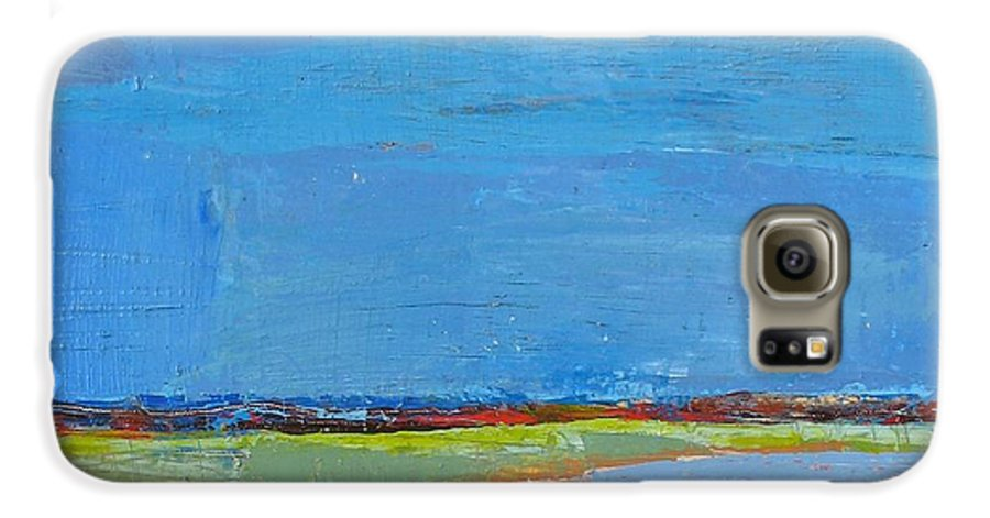 Galaxy S6 Case featuring the painting Abstract Landscape1 by Habib Ayat