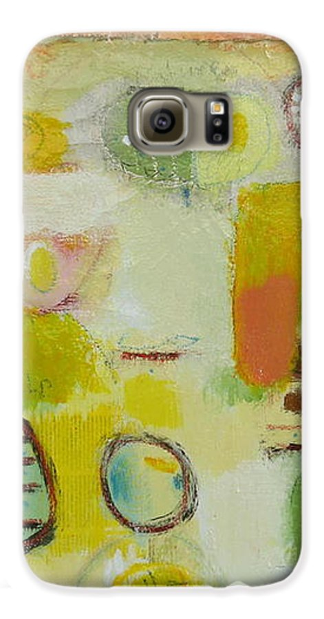 Galaxy S6 Case featuring the painting Abstract Life 2 by Habib Ayat