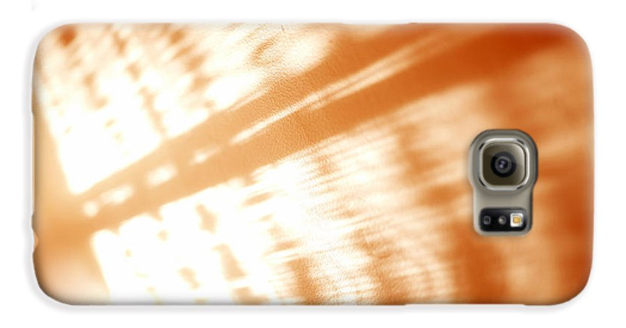 Abstract Galaxy S6 Case featuring the photograph Abstract Light Rays by Tony Cordoza
