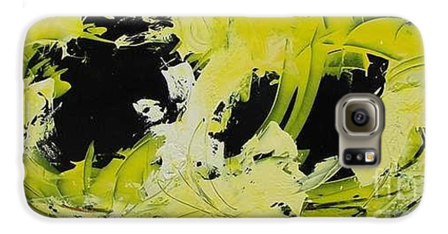 Abstract Galaxy S6 Case featuring the painting Abstract Nature by Mario Zampedroni