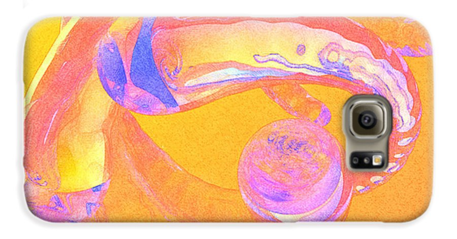 Glass Galaxy S6 Case featuring the painting Abstract Number 2 by Peter J Sucy