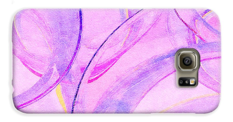Glass Galaxy S6 Case featuring the painting Abstract Number 20 by Peter J Sucy