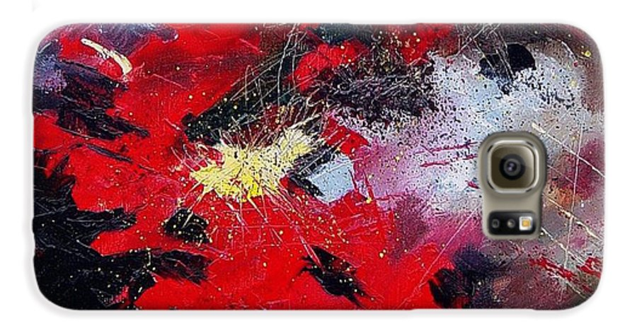 Abstract Galaxy S6 Case featuring the painting Abstract070406 by Pol Ledent