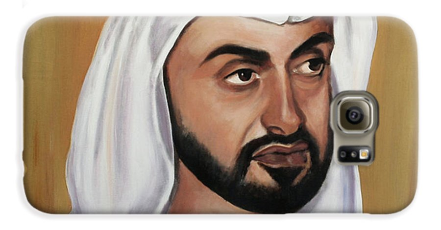 Abu Dhabi Galaxy S6 Case featuring the painting Abu Dhabi Crown Prince by Fiona Jack