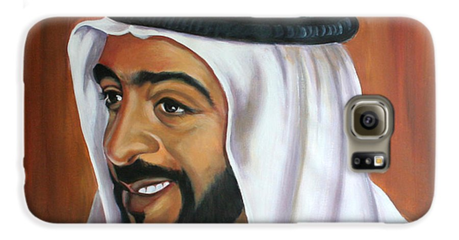 Portrait Galaxy S6 Case featuring the painting Abu Dhabi by Fiona Jack