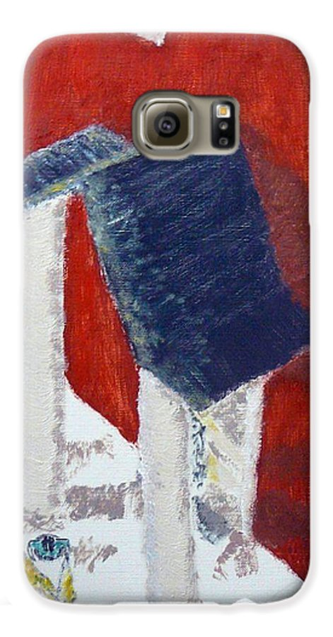 Social Realiism Galaxy S6 Case featuring the painting Accessories by R B