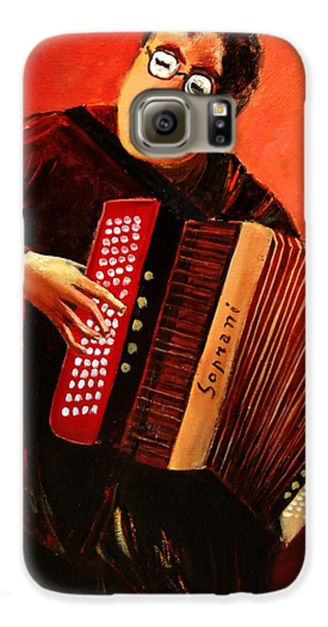 Music Galaxy S6 Case featuring the print Accordeon by Pol Ledent